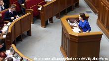Ukraine l Plenarsitzung des ukrainischen Parlaments - Iryna Venediktova