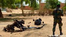 Niger Agadez Wrack eines Selbstmordattentats