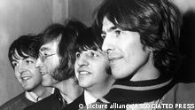The British pop group 'The Beatles', from left to right, Paul McCartney, John Lennon, Ringo Starr and George Harrison, in London, England, Feb. 28, 1968. (AP Photo) |