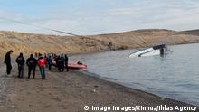 191227 -- BEIJING, Dec. 27, 2019 -- Rescuers work near the capsized boat in Lake Van in Turkey, Dec. 26, 2019. Seven people were killed as a migrant boat capsized in eastern Turkey s Lake Van, the state-owned Anadolu news agency reported Thursday. The boat carrying migrants capsized at around 3 a.m. local time 0000 GMT as it sailed close to Adilcevaz district in the eastern Turkish city of Bitlis, on the northern shores of Lake Van. /Handout via Xinhua XINHUA PHOTOS OF THE DAY IhlasxAgency PUBLICATIONxNOTxINxCHN