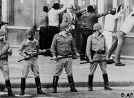 Buenos Aires, 30 de marzo de 1982: represión en las calles de Buenos Aires.