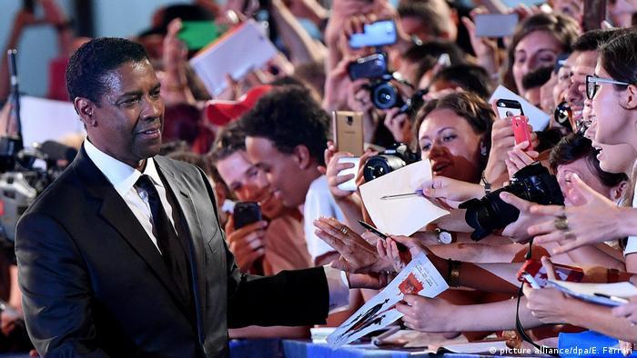 USA l US-Schauspieler Denzel Washington - Vorstellung seines Films Die glorreichen Sieben, Venedig