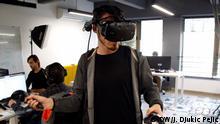 19.12.2019 *** Mihajlo Djokic. Nis, Serbia Mihajlo Djokic art director of the copmpany Software Wolf playing his game in startup center in Nis. Photo: Jelena Djukic Pejic / DW
