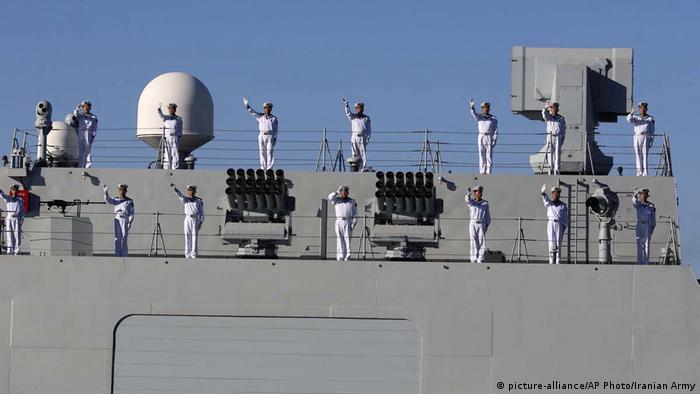 Iran Golf von Oman, Tschahbahar   Iran, China, Russland - gemeinsame Marine-Übung