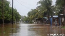 Schwere Regenfälle und Winde treffen die mosambikanische Provinz Cabo Delgado und beschädigen Häuser sowie die öffentliche und private Infrastruktur. Das Bild wurde in der Provinzhauptstadt Pemba gemacht. Rechte: Delfim Aacleto / DW am 27.12.2019