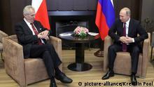 Wladimir Putin meets und Milos Zeman