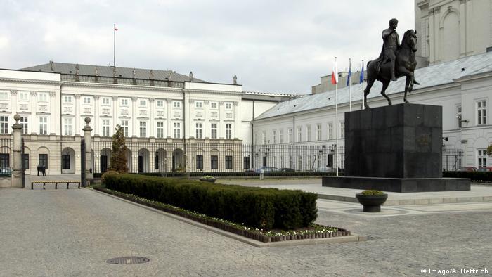 Polen, Warschau: Außenansicht Präsidentenpalast