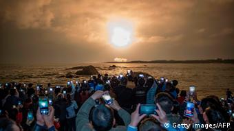 China, Wenchang: Start der Long March 5 in der Provinz Hainan (Getty Images/AFP/STR)