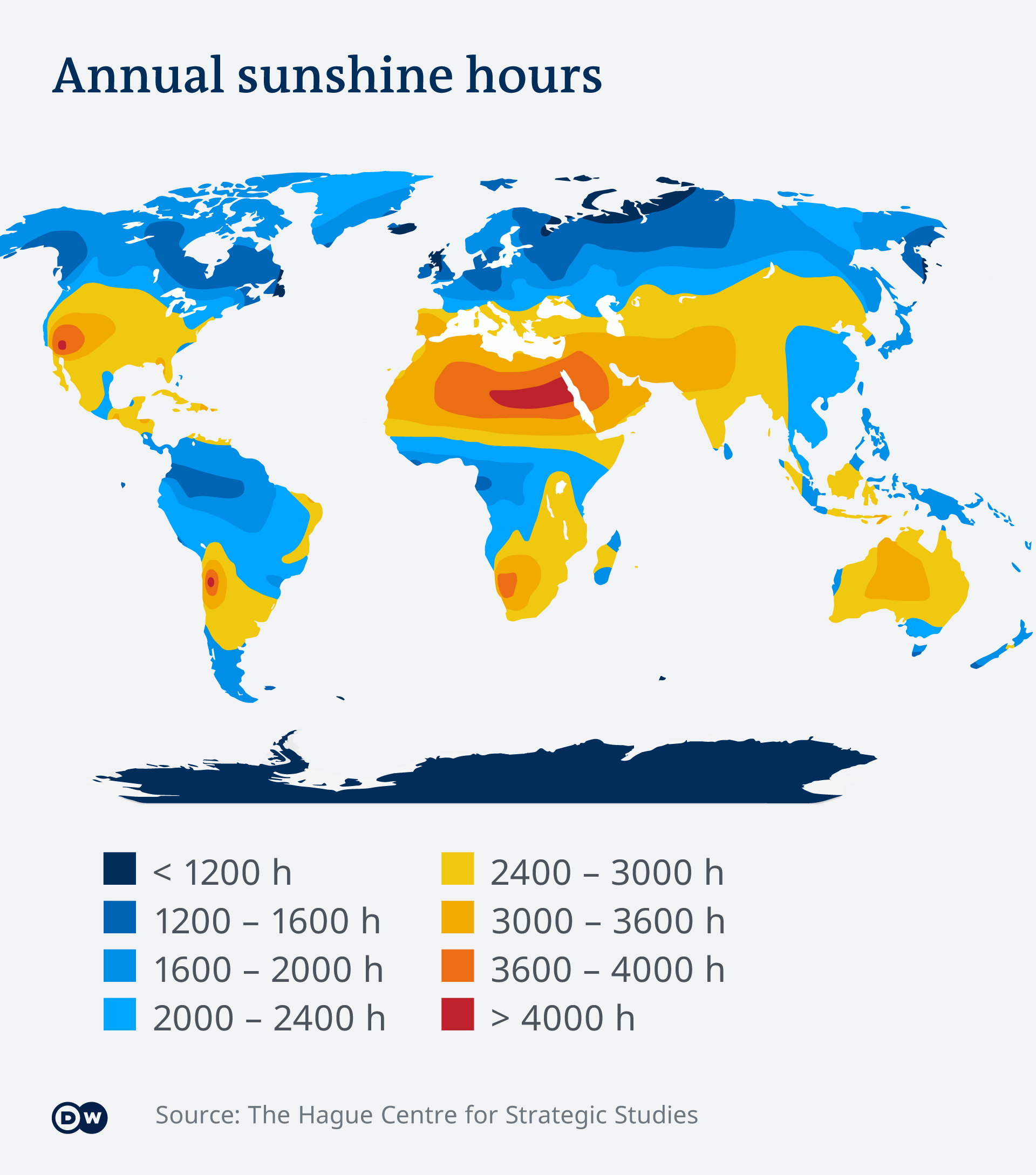 Image of world map showing hours of sunlight