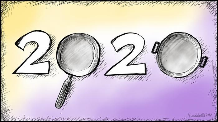 DW-Karikatur von Vladdo - Neues Jahr, neuer Protest