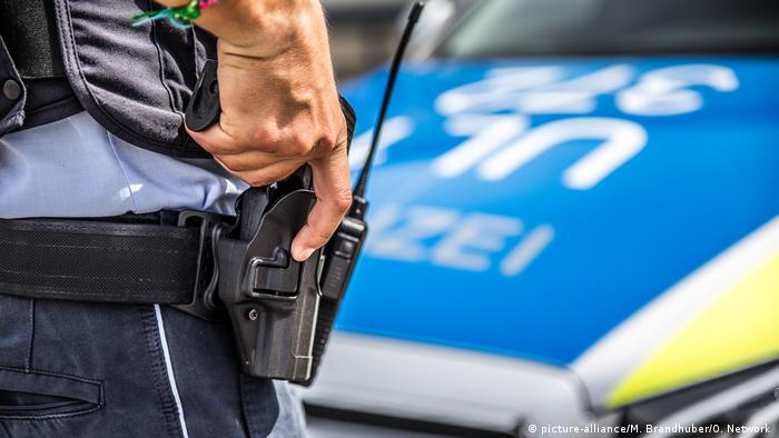 Police with pistol