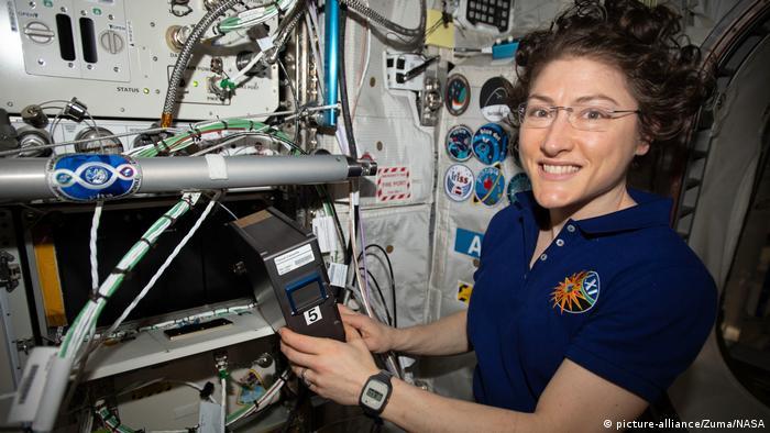 ISS-Expedition 61 Astronautin Christina Koch 3-D Bioprinter (picture-alliance/Zuma/NASA)