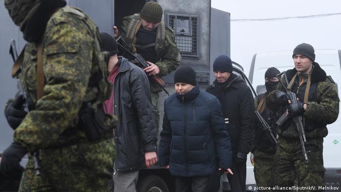 Ostukraine Donezk Region Gefangenaustausch