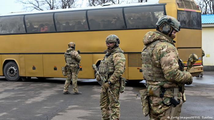 Обмен пленными у КПП Майорское