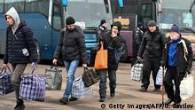 Ukraine - Russland Gefangenenaustausch | Grenzübergang Mayorsk