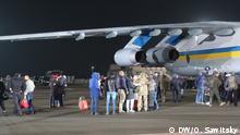 Ukraine, Kiew: Empfang auf dem Flughafen Borispol