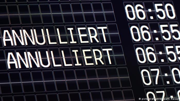 Отмена рейсов Germanwings