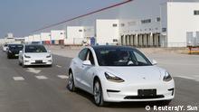 Erste Bilder vom Tesla Model 3, das in Shanghai/China hergestellt wurden