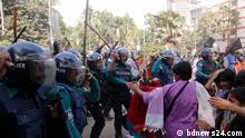 30.12.2019, Dhaka, Bagladesh, Police have foiled the Left Democratic Alliance's 'black flag' march towards the Prime Minister's Office in Dhaka, Redakteur: Faisal Ahmed