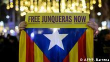 Barcelona | Protestierende verlangen die Freilassung von Oriol Junqueras
