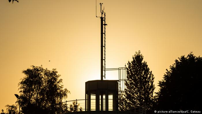 German weather station in Erfurt