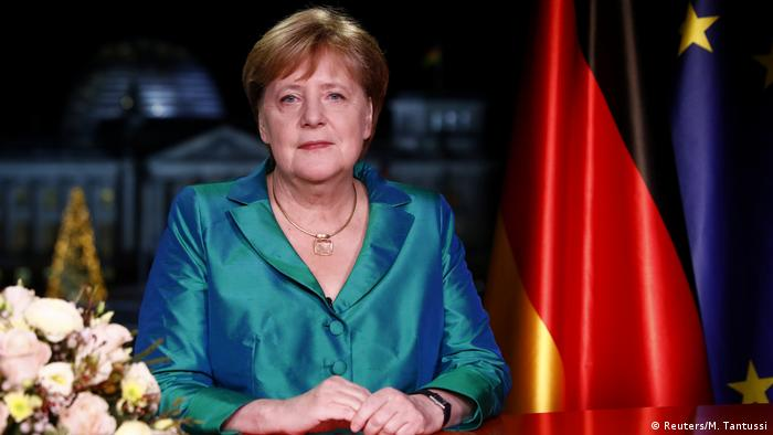 Angela Merkel em discurso de Ano Novo