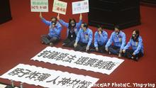 Taiwan Taipei | Proteste gegen das Anti- infiltration Bill gegen politische Einflußnahme Chinas