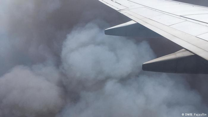 Australian bushfires seen from a plane