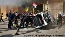 Proteste bei der US-Botschaft in Baghdad