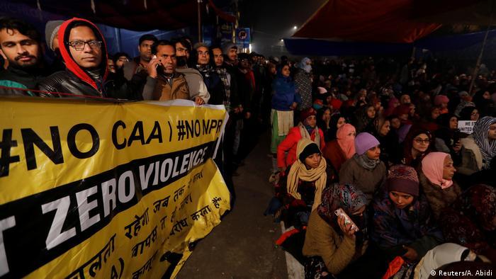 Indien Proteste gegen neues Staatsbürgerschaftsrecht in Delhi