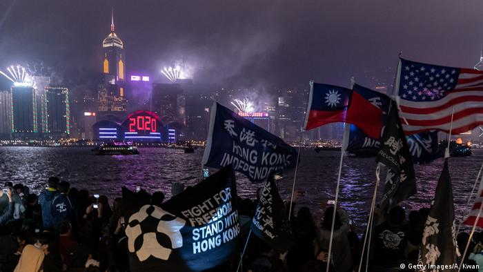 Hong Kong Marks New Year With Anti-Government Protests 2020 (Getty Images/A. Kwan)