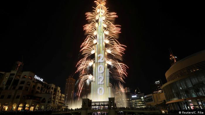 Neujahr Dubai Burj Khalifa 2020 (Reuters/C. Pike)
