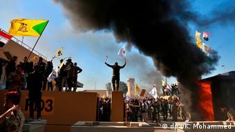 Irak   Gewaltsame Proteste auf dem Gelände der US Botschaft