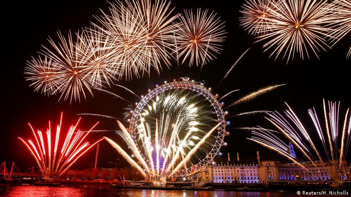London | Feuerwerk Neujahr 2020 (Reuters/H. Nicholls)