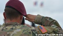 A US solider salutes