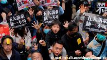 Hongkong Neues Jahr beginnt mit Protesten