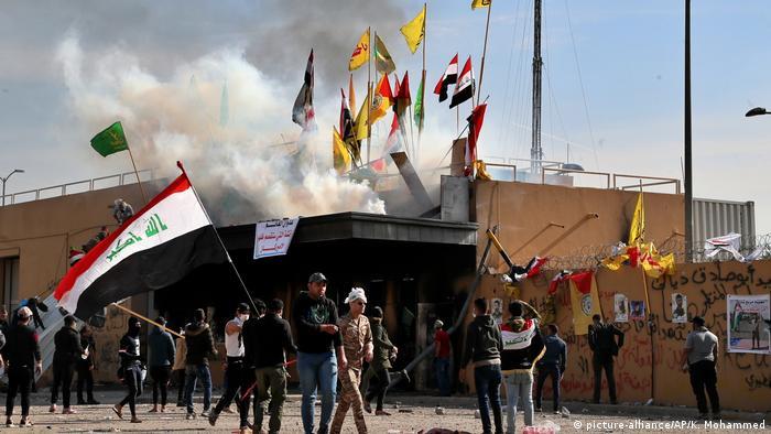 Акція протесту біля посольства США в Багдаді