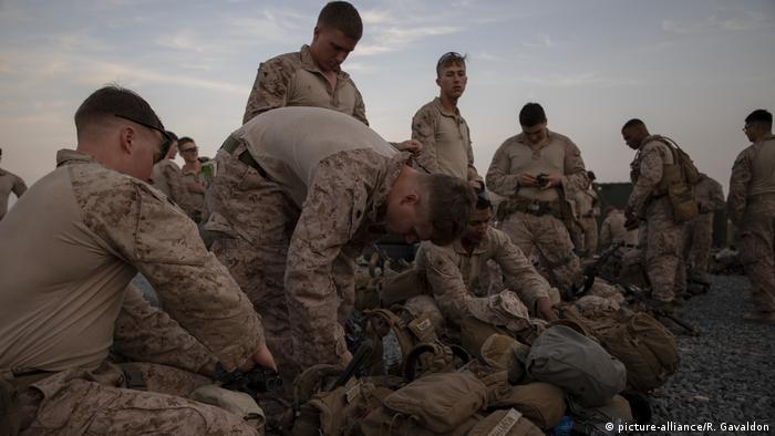Das US-Militär bietet Sicherheit für das US-Botschaftsgelände in Bagdad nach Protesten