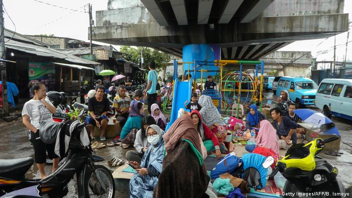 As of Thursday, over ,000 people were evacuated in Jakarta alone, according to National Disaster Mitigation Agency spokesman Agus Wibowo.