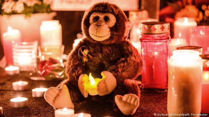 BdT Gedenkkerzen Nach dem Brand im Krefelder Zoo (picture-alliance/dpa/A. Forstreuter)