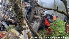 Taiwan | Rettungseinheiten suchen nach Vermissten bei Absturzstelle eines Black Hawk Hubschraubers