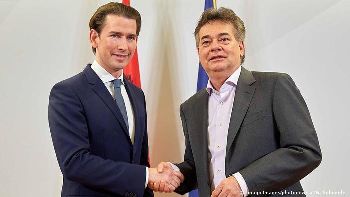 Österreich Koalitionsverhandlungen| Sebastian Kurz und Werner Kogler