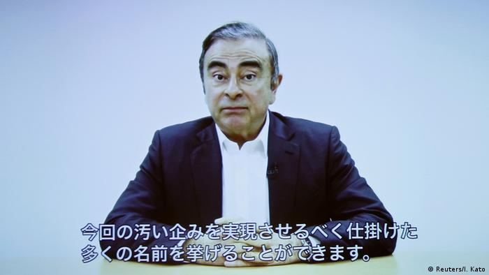 Video Statement Ex-Autoboss Carlos Ghosn