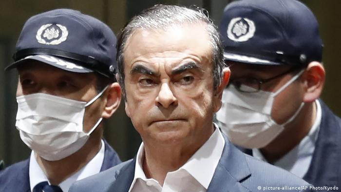 Ghosn was originally arrested in Tokyo in November 2018 but fled after he was released on bail