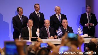 Από την υπογραφή της συμφωνίας για τον αγωγό EastMed στην Αθήνα