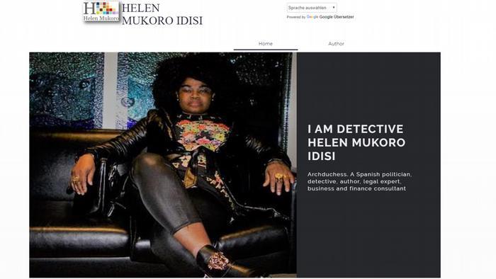 Screenshot Homepage Homepage Helen Mukoro Idisi