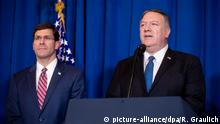 Mark Esper und Mike Pompeo