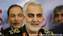 Major General Qassem Soleimani, Commander of the Islamic Revolution Guards Corps (IRGC) Quds Force, shrugged off US President Donald Trump'ss recent threats against Iran, saying if the US were to begin a war, it would be Iran that would finish it. Hamadan, Iran, July 26, 2018. Photo by Salampix/ABACAPRESS.COM |