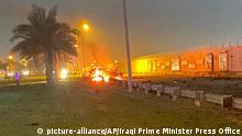 Irak Bagdad Airport Luftschlag US-Streitkräfte auf General Qassem Soleimani aus Iran