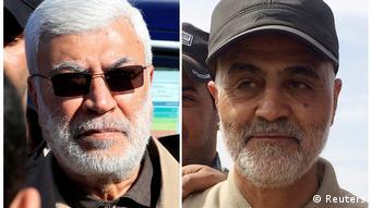 Abu Mehdi al-Muhandis e Qassim Suleimani, ambos mortos no ataque americano